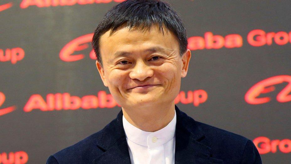 لبخند جک ما رئیس شرکت علی بابا